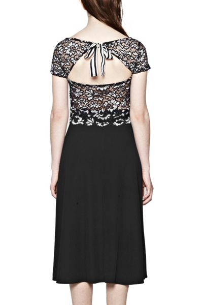 French Connection Fast Lucet Lace Sclp Edge Top