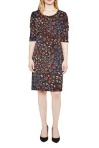 Great Plains Leopard Kisses Ruched Dress