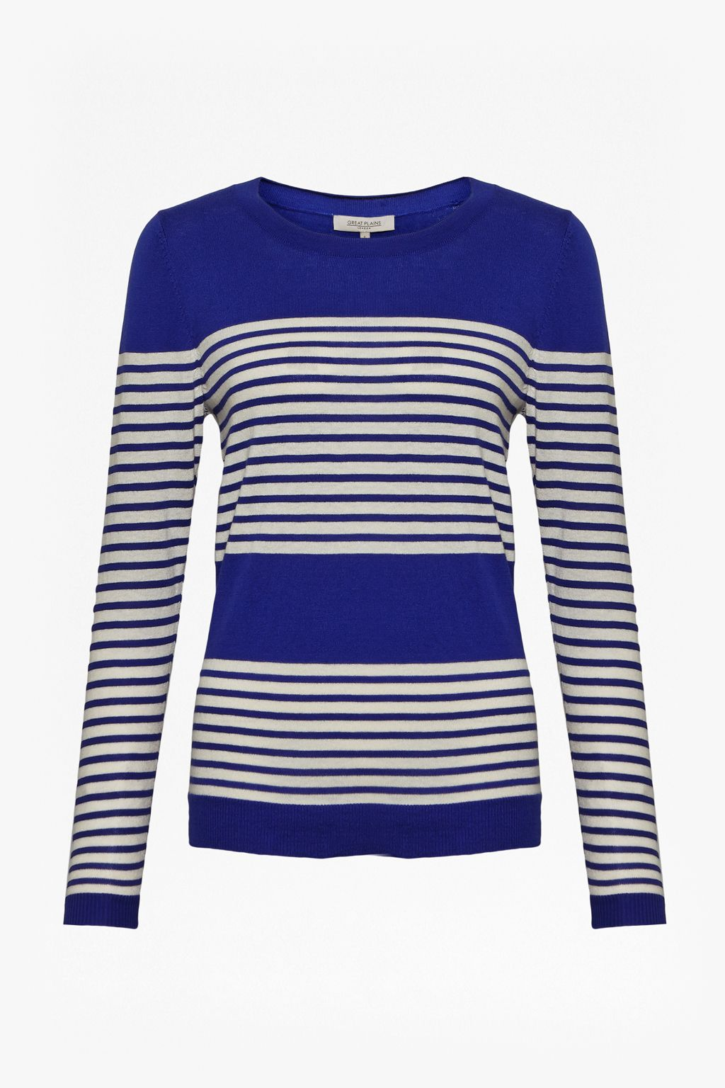 Great Plains Great Plains Betty Stripe Scoop Neck Top, Blue