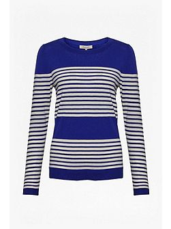 Betty Stripe Scoop Neck Top