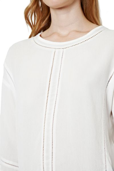 Great Plains Siouxsie Crepe Punch Out Top