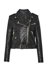 French Connection Generation Faux Leather Biker Jacket