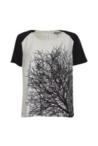 Great Plains Mono Oak Tree Print Top
