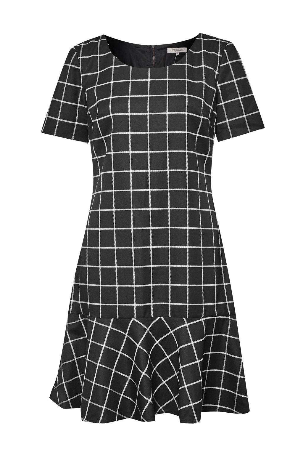 Great Plains Great Plains Herringbone Check Dress, Black
