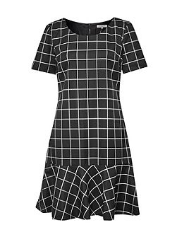 Herringbone Check Dress