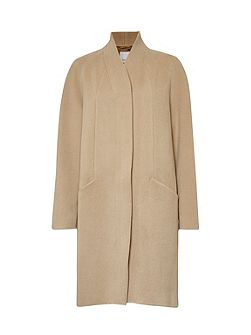 Shrewsbury Collarless Zip Coat