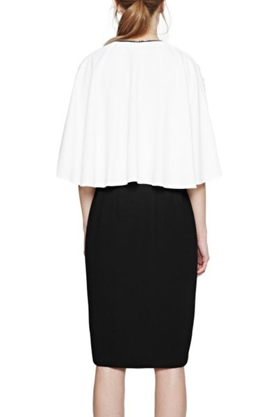 French Connection Arrow Crepe Zip Detail Dress
