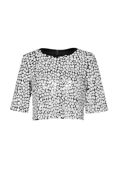 French Connection Flint Sequin Crop Top