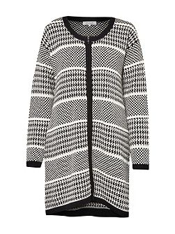 Ginny Dogtooth Oversized Cardigan