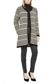 Great Plains Ginny Dogtooth Oversized Cardigan