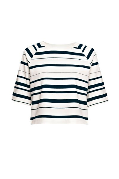 French Connection Joshua Striped Jersey Top