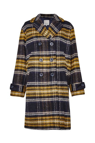 Great Plains Check Double Breast Coat