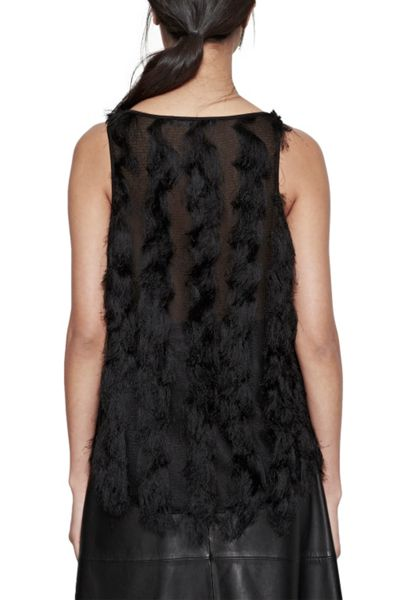 French Connection Tassel Valley Vest Top