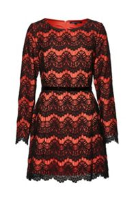 French Connection Linea Lace Shift Dress