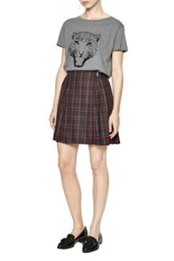 French Connection Soho Check Pleated Skirt