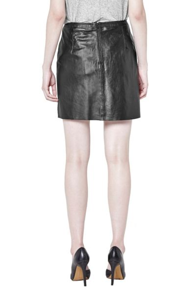 French Connection Jetson Leather Skirt