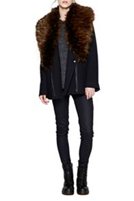 Mia Wool Fur Collar Jacket