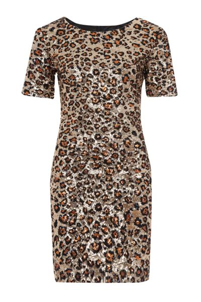 French Connection Leo Luxe Sequinned Dress