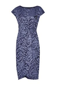 Leo Jacquard Cap Sleeve Dress