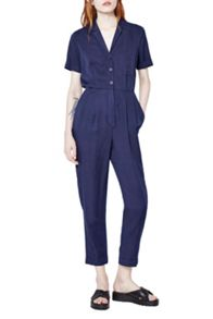 French Connection Cobalt Tencel Jumpsuit