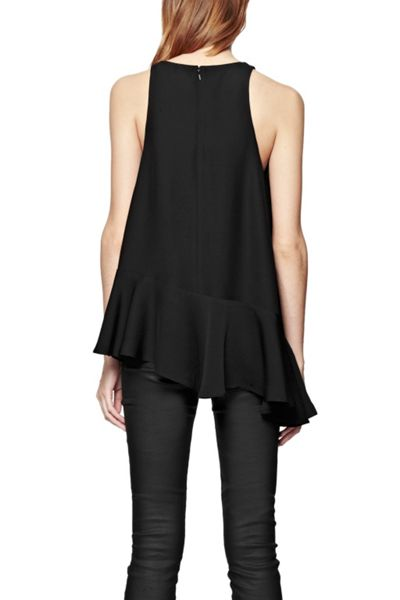 French Connection Downtown Crepe Asymetcric Top