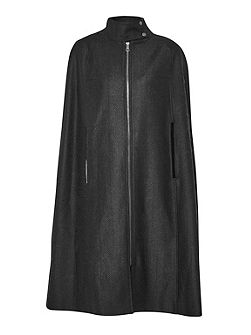 French Connection Winter Night Wool Cape