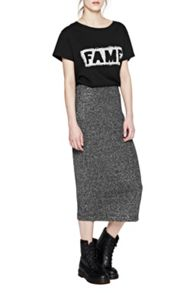French Connection Bianca Lurex Midi Skirt
