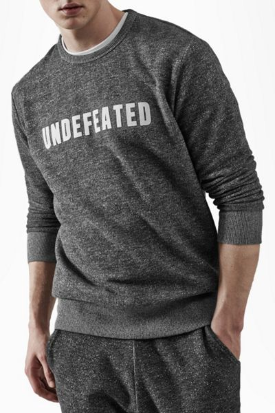 French Connection Fcuk Fear Undefeated Tweed Graphic Crew Neck Pull