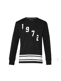 Fcuk Fear 1972 Graphic Crew Neck Pull Over