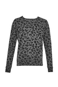 French Connection Deaf leopard raglan sweat