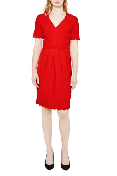 Great Plains Sadie Scallop Tea Dress