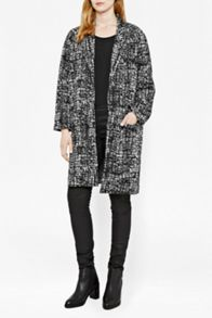 Great Plains City Scribble Coccon Coat