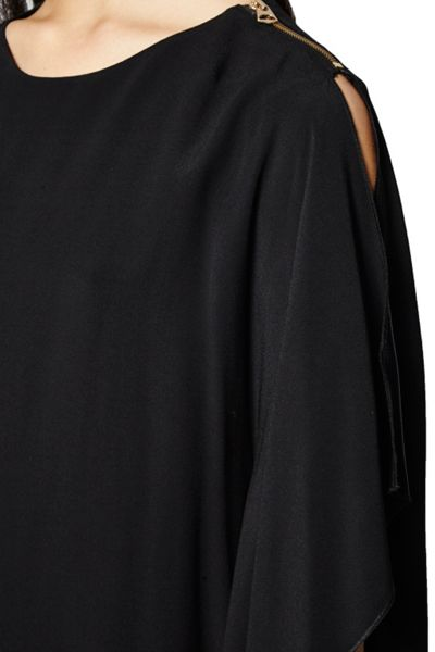 French Connection Emma Fluted Crepe Dress
