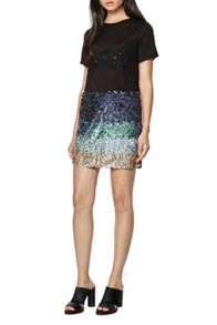 French Connection Cosmic Beam Sequin Skirt