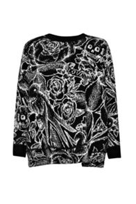 Tattoo Jumble Knitted Dress