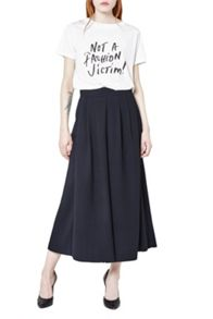 Ft Aro Crepe Wide Leg Trousers