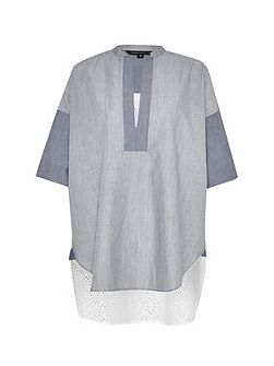 Ellis mix 3/4 sleeve tunic shirt