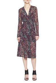 French Connection Soho Boa Jersey Wrap Dress