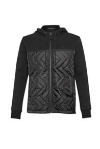 French Connection Quilted zip thru hoody