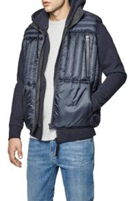 French Connection Bordelo quilted reversible gilet