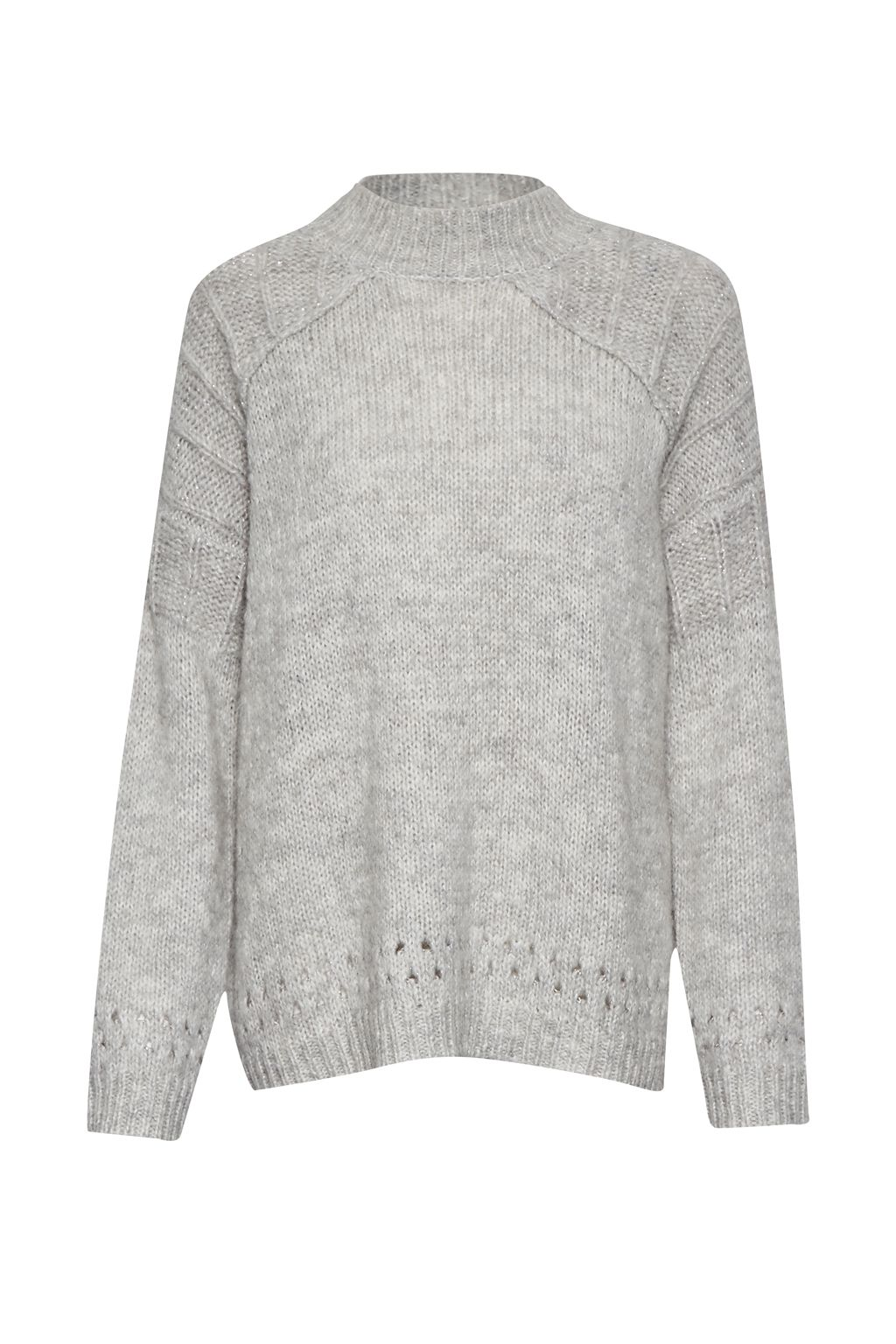 Great Plains Great Plains Cloud Knits Detail Jumper, Grey