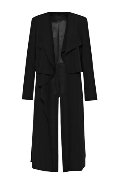 French Connection Cassie Drape Double Layer Coat