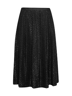 Black Swan Metallic Skirt