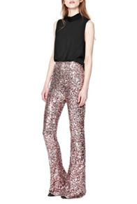 French Connection Lunar Sparkle Sequin Flares