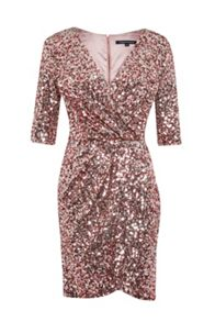 Lunar Sparkle Wrap Dress