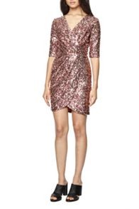 French Connection Lunar Sparkle Wrap Dress