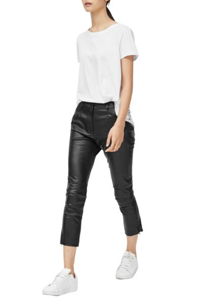 French Connection Atlantic Faux Leather Cropped Trousers