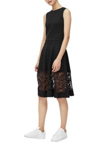 French Connection Beau Lace Detail Dress