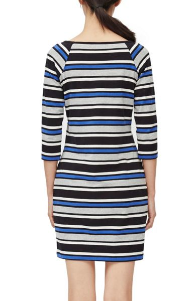 French Connection Suo Stripe Stretch Dress