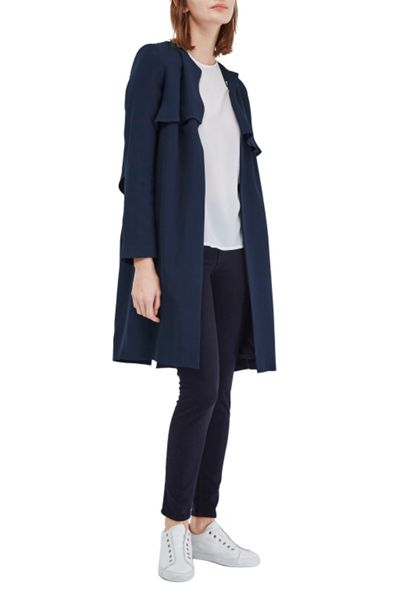 French Connection Rikki Crepe Duster Coat
